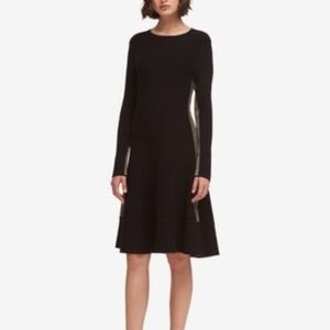 DKNY Colorblocked Shift Dress Black Combo